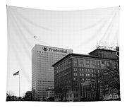 Newark  New Jersey In Black And White Tapestry