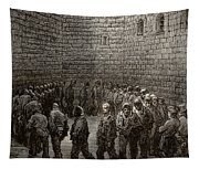 Newgate Prison Exercise Yard Tapestry