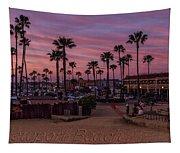Newport Beach Sunset Tapestry