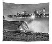 Niagara Falls Black And White Starbursts Tapestry