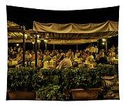 Night At The Cafe - Taormina - Italy Tapestry