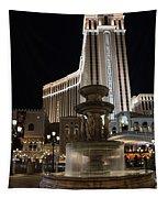Night Glow At The Venetian Las Vegas Tapestry
