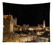 Night In The Old City Tapestry
