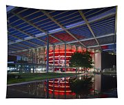 Night Lights Of The Winspear Opera House - Dallas Tapestry