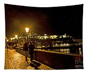 Night On The Charles Bridge Tapestry