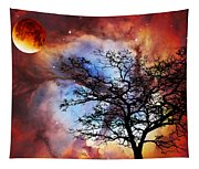 Night Sky Landscape Art By Sharon Cummings Tapestry