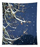 Night Snow Tapestry