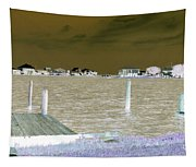 Night View Of Lafitte Bay Dauphin Island Alabama Tapestry