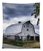 Nine Patch Quilt Barn Tapestry by Cricket Hackmann