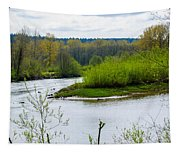 Nisqually River From The Nisqually National Wildlife Refuge Tapestry