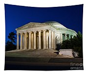 Nite At The Jefferson Memorial Tapestry