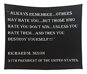 Nixon Quote In Negative Tapestry