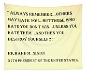 Nixon Quote In Sepia Tapestry