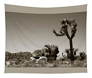 Joshua Tree National Park Landscape No 4 In Sepia  Tapestry