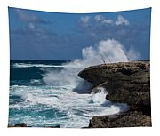 No Fishermen - Fun Sport At Laie Point Oahu North Shore Hawaii Tapestry