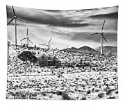 No Place Like Home Bw Palm Springs Desert Hot Springs Tapestry