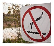 No Swimming Tapestry