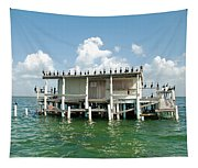 No Vacancy At The Stilt House Tapestry