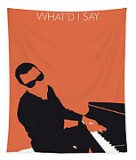 No003 My Ray Charles Minimal Music Poster Tapestry by Chungkong Art
