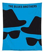 No012 My Blues Brother Minimal Movie Poster Tapestry
