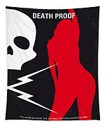 No018 My Death Proof Minimal Movie Poster Tapestry