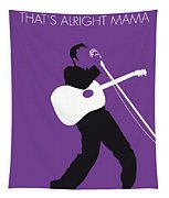 No021 My Elvis Minimal Music Poster Tapestry by Chungkong Art