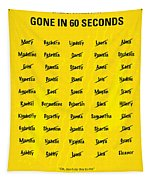 No032 My Gone In 60 Seconds Minimal Movie Poster Tapestry