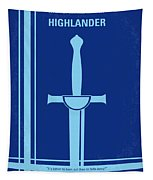 No034 My Highlander Minimal Movie Poster.jpg Tapestry