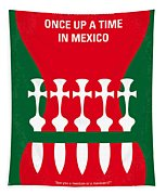 No058 My Once Upon A Time In Mexico Minimal Movie Poster Tapestry
