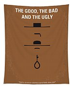 No090 My The Good The Bad The Ugly Minimal Movie Poster Tapestry
