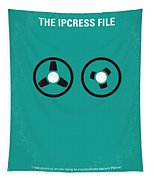 No092 My The Ipcress File Minimal Movie Poster Tapestry