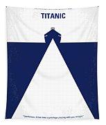 No100 My Titanic Minimal Movie Poster Tapestry