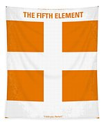 No112 My Fifth Element Minimal Movie Poster Tapestry