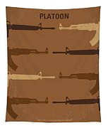 No115 My Platoon Minimal Movie Poster Tapestry