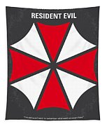 No119 My Resident Evil Minimal Movie Poster Tapestry