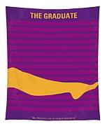 No135 My The Graduate Minimal Movie Poster Tapestry