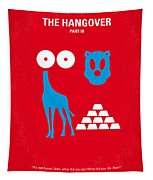 No145 My The Hangover Part 3 Minimal Movie Poster Tapestry by Chungkong Art