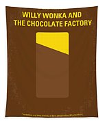 No149 My Willy Wonka And The Chocolate Factory Minimal Movie Poster Tapestry