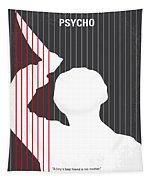 No185 My Psycho Minimal Movie Poster Tapestry