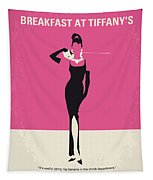 No204 My Breakfast At Tiffanys Minimal Movie Poster Tapestry