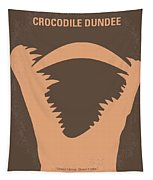No210 My Crocodile Dundee Minimal Movie Poster Tapestry