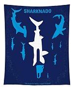 No216 My Sharknado Minimal Movie Poster Tapestry