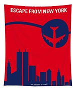 No219 My Escape From New York Minimal Movie Poster Tapestry