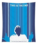 No220 My This Is The End Minimal Movie Poster Tapestry