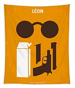 No239 My Leon Minimal Movie Poster Tapestry by Chungkong Art