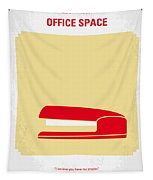 No255 My Office Space Minimal Movie Poster Tapestry