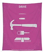 No258 My Drive Minimal Movie Poster Tapestry
