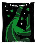 No277-007-2 My Casino Royale Minimal Movie Poster Tapestry