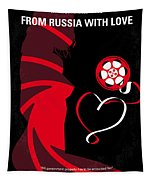 No277-007 My From Russia With Love Minimal Movie Poster Tapestry