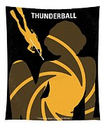 No277-007 My Thunderball Minimal Movie Poster Tapestry